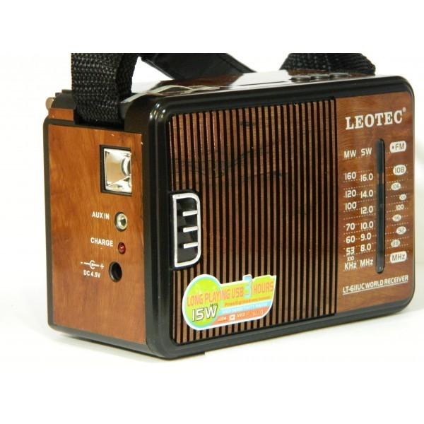 Radio si MP3 player retro cu suport SD si USB Leotec LT-611UC