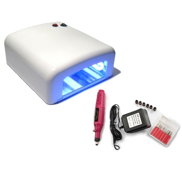 Kit lampa UV profesionala si pila electrica Mini Freza