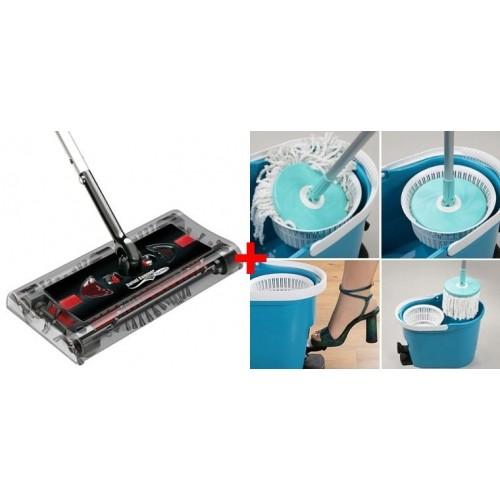 Oferta: Matura Electrica Swivel Sweeper + Mop Spin & Go
