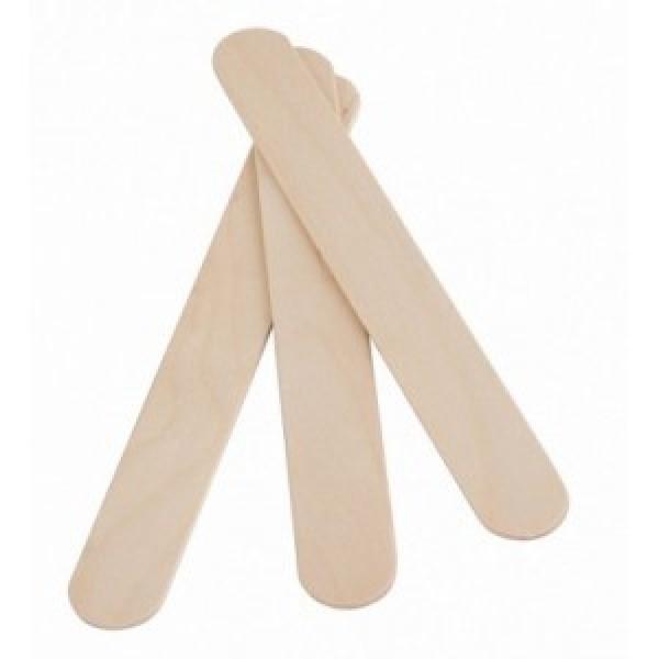 Set 100 spatule din lemn pentru epilat cu ceara