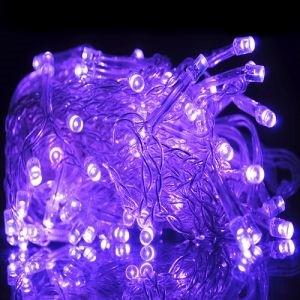 Instalatie Beculete Craciun 20 leduri violet