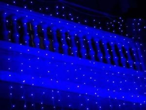 Instalatie Beculete Craciun 110 leduri albastre