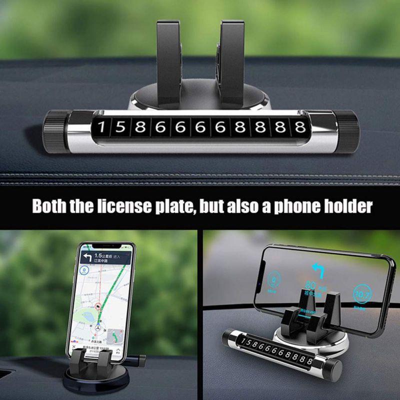 Suportul de afisare numar cu stand telefon pentru bordul auto
