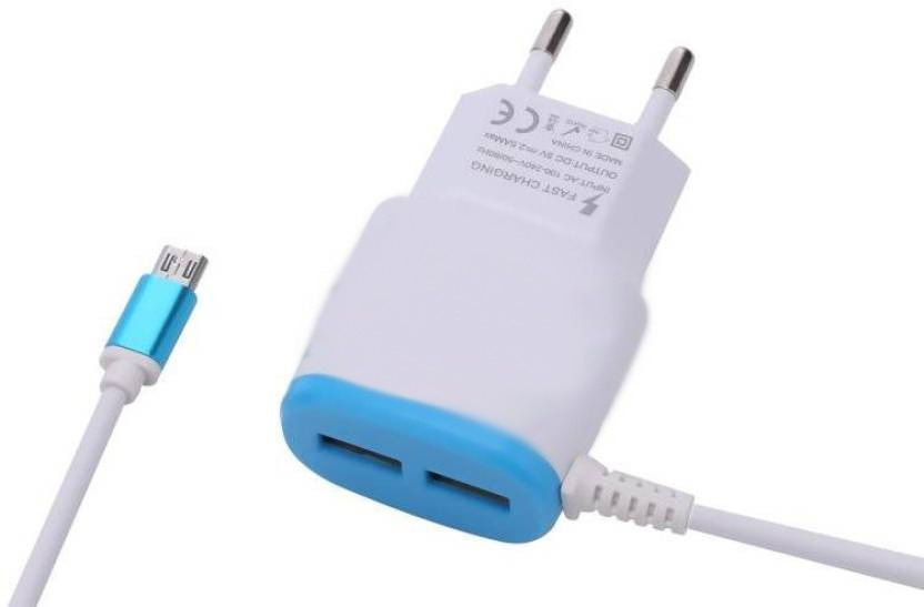 Incarcator retea rapid cu fir micro USB si 2 porturi USB