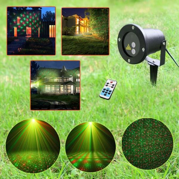 Proiector laser motion cu telecomanda pentru exterior