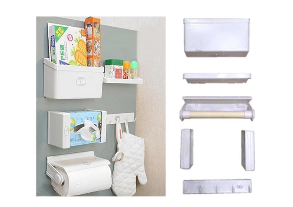 Set 5 organizatoare magnetice pentru frigider