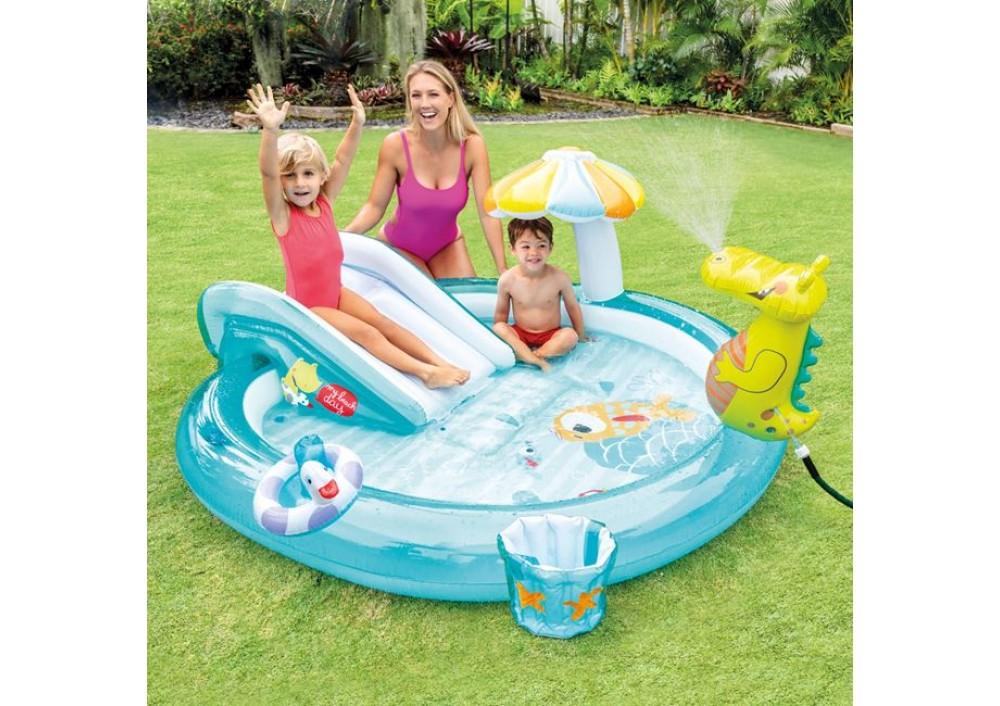 Piscina gonflabila copii Centrul de joaca crocodil Intex 57165