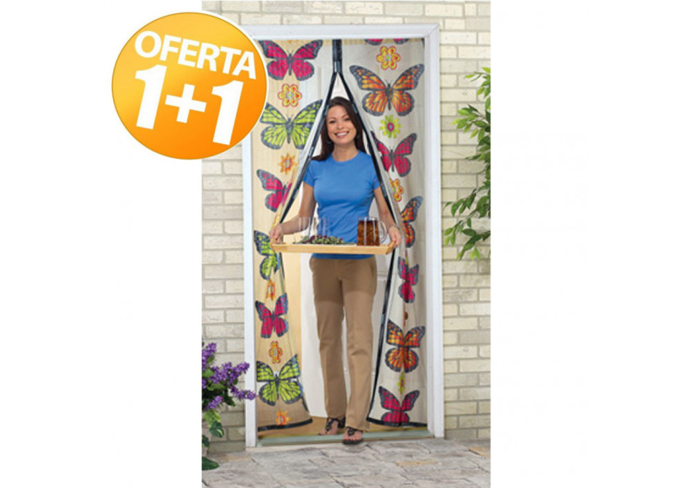 Set 1+1 Plasa impotriva insectelor Butterfly Magnetic