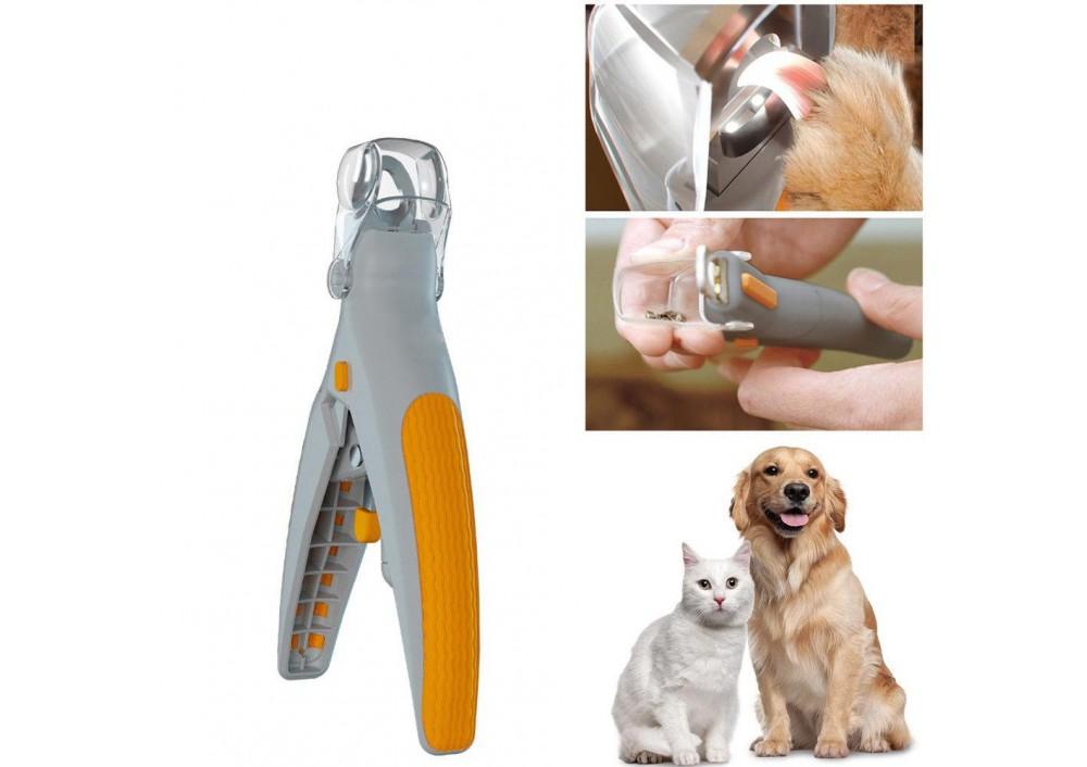 Cleste cu lupa si led pentru taiat unghii animale