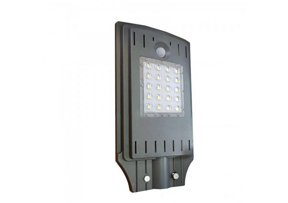 Lampa stradala LED 20 W cu panou solar si senzor de lumina