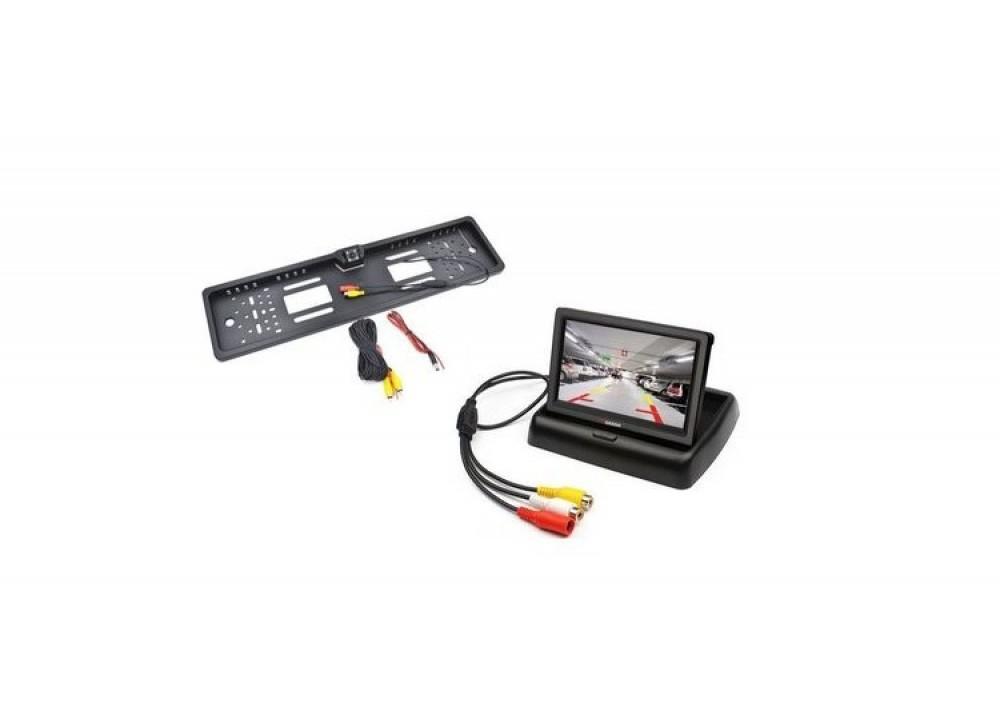 Oferta Speciala Display pliabil LCD si Suport numar imatriculare cu camera video marsarier