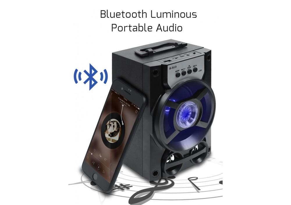 Boxa portabila Bluetooth, baterie 1200 mAh, radio FM