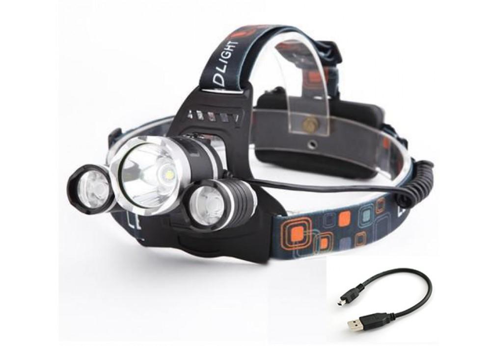 Lanterna frontala LED 3 in 1 T6 50000W