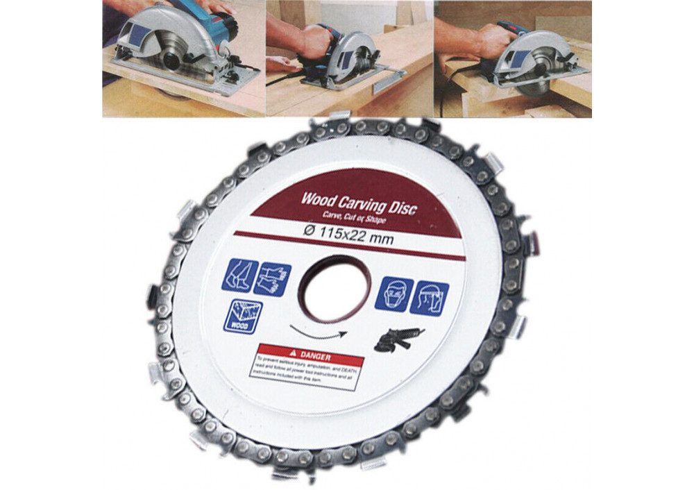 Disc flex lemn cu lant drujba, polizor unghiular, diametru 115 mm