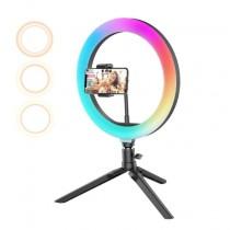 Lampa LED RGB circulara Make-up RGB, 10W,