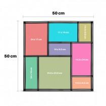 Cofraj material plastic pentru paviment, 50x50x4,5 cm