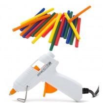 Pistol pentru lipire termoadeziva, 7 mm + 20 Batoane colorate cadou