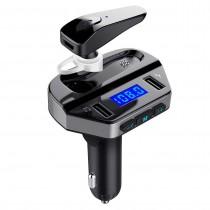 Modulator Auto FM cu casca bluetooth Handsfree si functie de incarcare rapida