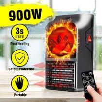 Aeroterma portabila cu telecomanda si Display Putere 900W Flame Heater