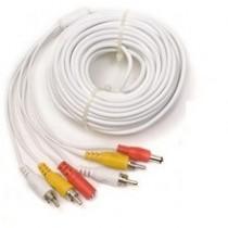 Cablu RCA 30 metri pentru conectare camere video la DVR cu alimentare