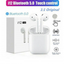Casti Bluetooth Touch control, Wireless i12 Profesionale, Compatibile Android si iOS