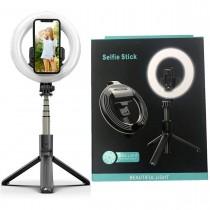 Lampa circulara LED cu suport Selfie Stick, telecomanda de declansare, L07