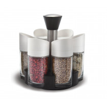 Set solnite 7 piese cu suport cromat Spice Rack