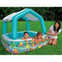 Piscina gonflabila cu acoperis, pentru copii, Intex 57470, 157×157×122