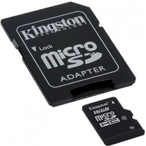 Card microSD cu adaptor Kingston 16GB