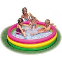 Piscina pentru copii cu baza moale, Intex 57412, 173 litri, 114x25cm
