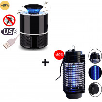 Oferta 2 dispozitive impotriva tantarilor si insectelor pentru casa si gradina 1+1, cadou