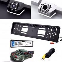 Camera video auto marsarier, mers inapoi, incorporata in suport numar de inmatriculare