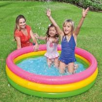 Piscina pentru copii cu baza moale, Intex 57422, 182 litri, 147x25cm