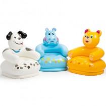Fotoliu plutitor gonflabil, pentru copii, Happy Animal, Intex 68556