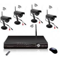 Kit supraveghere DVR fara fir cu 4 camere CCTV