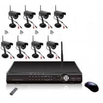 Sistem supraveghere CCTV fara fir 8 camere
