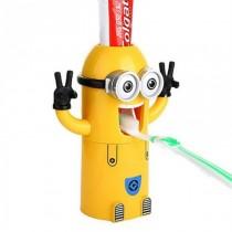 Dozator de pasta de dinti pentru copii cu suport pentru periute si pasta