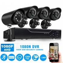 Sistem supraveghere CCTV, 4 camere pentru exterior cu telecomanda inclusa