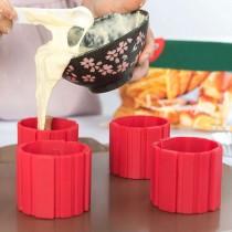 Set 4 forme din silicon pentru tort si prajituri