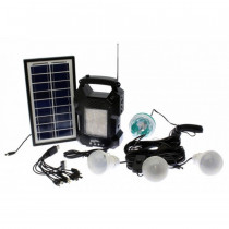 Lanterna cu radio si Mp3 GD-Light GD-8050, panou solar, 4 becuri