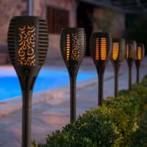 Lampa solara cu efect de flacara pentru gradina sau casa, 78 cm.