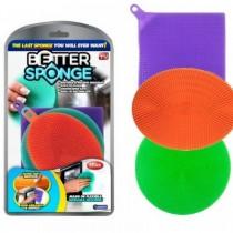 Set 3 bureti vase din silicon Better Sponge Pro