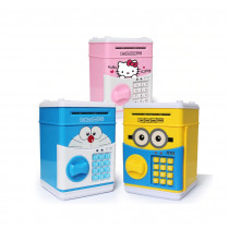 Pusculita interactiva pentru copii cu functie ATM seif si cod pin