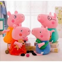 Set 5 plusuri 25 cm, Familia Peppa Pig
