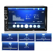 "Player Multimedia Auto 2DIN Display 7"" HD TouchScreen, Bluethoot"