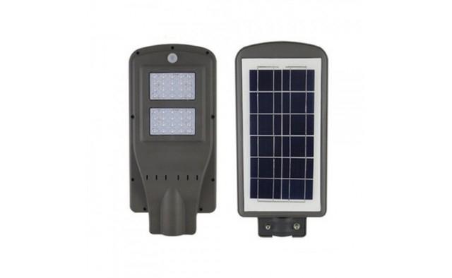 Image of Lampa stradala 2x Cobled, cu panou solar, senzor, telecomanda si suport 100 W