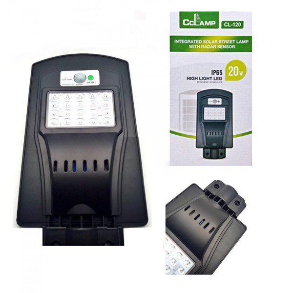 Image of Lampa stradala LED IP65 cu panou solar si senzori 20 W